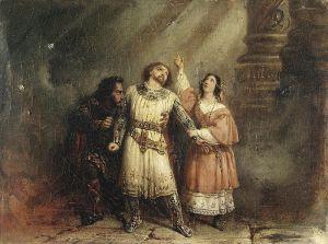 Pintura de Lepaulle, 1835, para la ópera de Giacomo Meyerbee, Roberto el diablo.