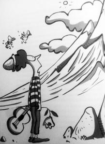 Ilustración de Trino para Por un tornillo (Padilla, FCE, 2009).