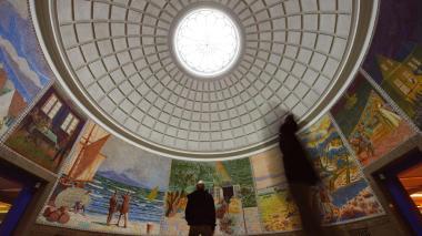 Murales con la vida de Andersen en su Casa Museo.