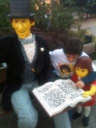 Escultura de Andersen de Lego en Billund.