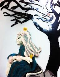 """""""Los cisnes salvajes"""" de Legos en Billund."""
