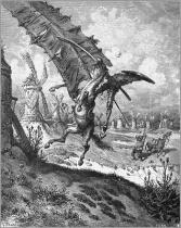 Gustave Doré - Don Quijote contra los molinos de viento