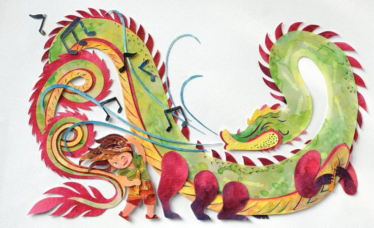 Mi amigo el dragón interiores