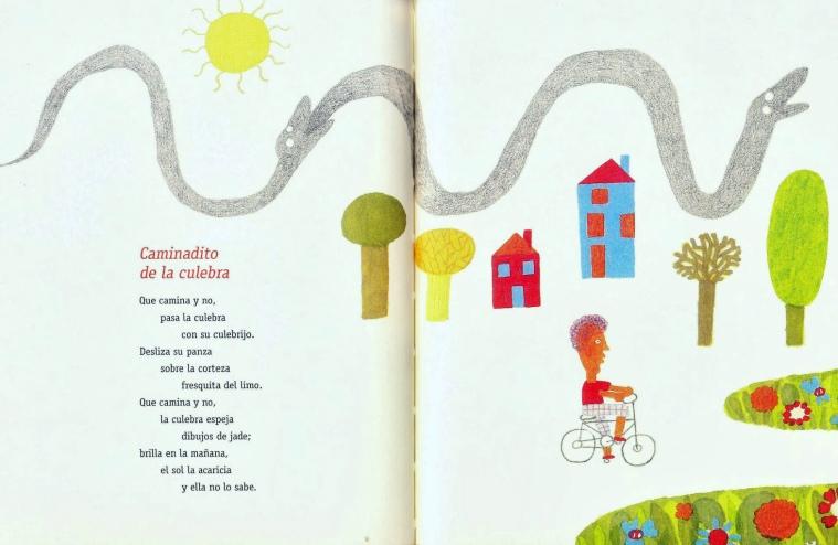 """""""Caminaditos"""" de María Cristina Ramos y Elisa Arguilé, Los cuatro azules, 2013."""