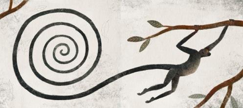 Monos, mensajeros del viento. Premio Bolonia de Ilustración. Juan Carlos Palomino.