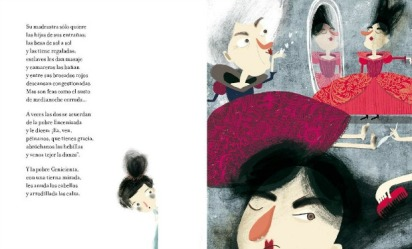 La Cenicienta, ilustración de Bernardita Ojeda, Amanuta, 2012.