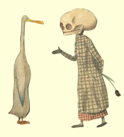 Ilustración de Wolf Erlbruch.