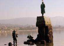 Monumento a Verne en Redondela España