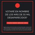 Votaré en nombre de losdesaparecidos