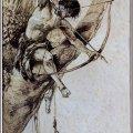 Ilustración de portada de la primera edición del libro Tarzan y las joyas de Opar publicada en 1918 . Autor: J. Allen St. John(1872-1957).