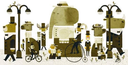 Ilustraciones de Peter Brown.