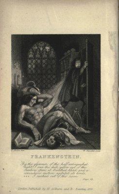 Frankenstein, Theodore von Holst, 1831.
