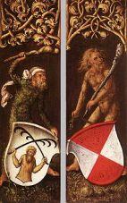 Hombres salvajes, Albrecht Dürer, 1499.