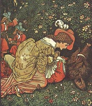 La Bella y la Bestia, Walter Crane, 1874.