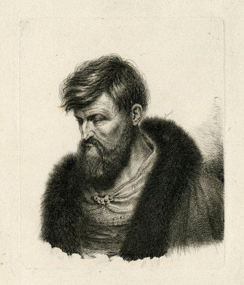 Hombre barbado. Ludwig Emil Grimm.
