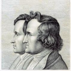 Jacob y Wilhelm Grimm.