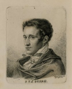 Retrato de Jacob Grimm.