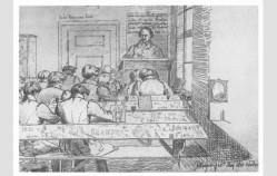 Jacob Grimm dando clase.