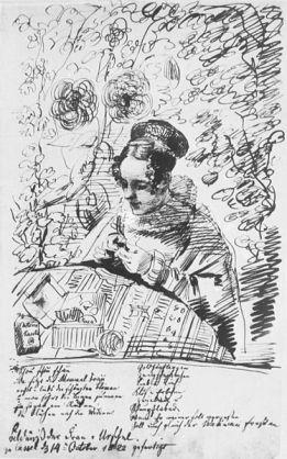 Retrato de Lotte Grimm.