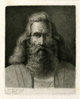Hombre con barba. Ludwig Emil Grimm.