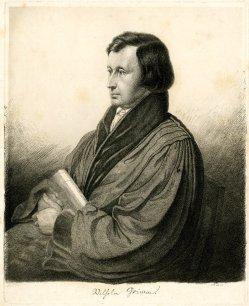 Retrato de Wilhelm Grimm.