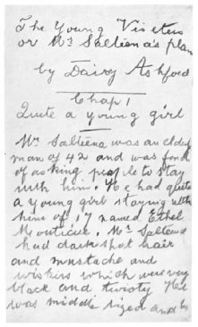 The_Young_Visiters_-_first_page_of_the_manuscript Daisy_Ashford