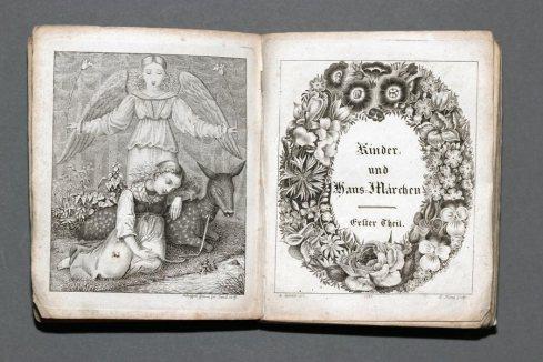 Edición de 1819 de los Cuentos de la infancia y el hogar.