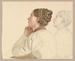 Estudio de mujer rezando (18¿?).