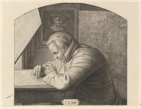 Retrato de Carl Ernst Christoph Hess de Ludwig Emil Grimm (18¿?)