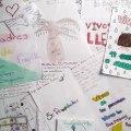 cartas y dibujos Ayotzinapaniños